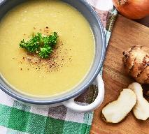 Aksamitna zupa z topinamburu i mleczka kokosowego - rewelacja!