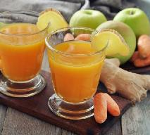 Koktajl cytrynowo-imbirowy z marchewką i jabłkiem