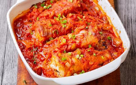 Ryba w warzywach z piekarnika