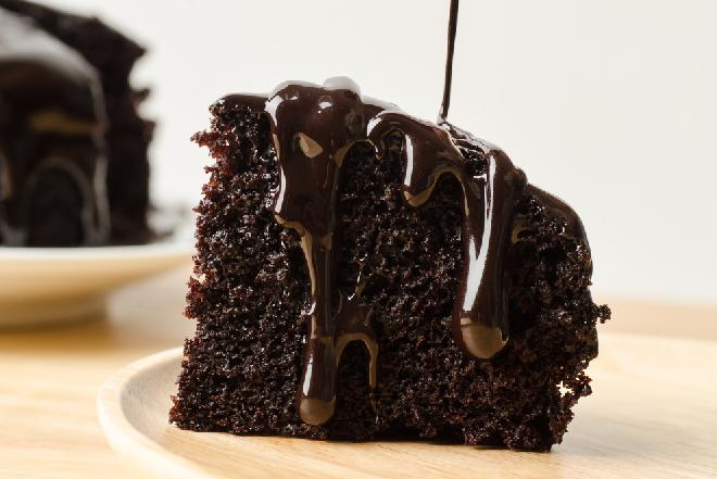 Rajskie ciasto czekoladowe bez jajek i masła