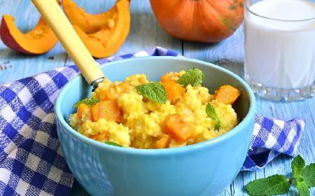 Jaglotto z dynią - pyszne jesienne danie na śniadanie, lunch lub kolację