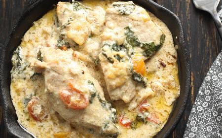 Aromatyczny kurczak po toskańsku w kremowym sosie!
